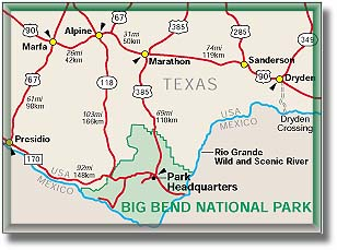 Big Bend National Park Climate Map Geography DesertUSA - Big bend national park map us