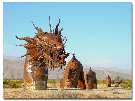 Metal Sculptures Draw Visitors To Borrego Valley Desert