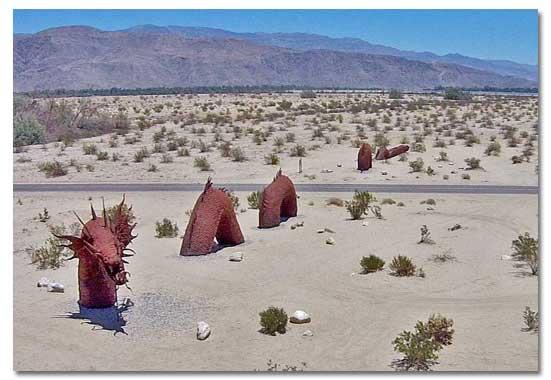 Metal sky art sculptures of borrego springs ca ricardo breceda dragon undulates through the ground mightylinksfo Images
