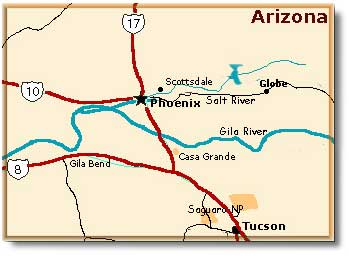 Map Of East Arizona.Globe Arizona Desertusa