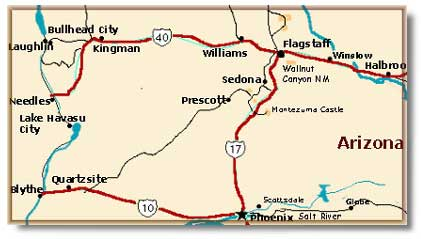 Map Of Arizona Bullhead City.Bullhead City Arizona Desertusa