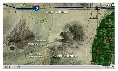 Take a video trip to the Opal Hill Mine - click on the picture above.