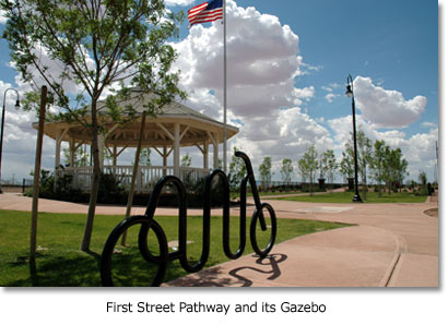 First Street Pathway and its Gazebo