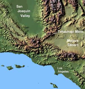 Palmdale California Desertusa Garlock Fault On Us Map