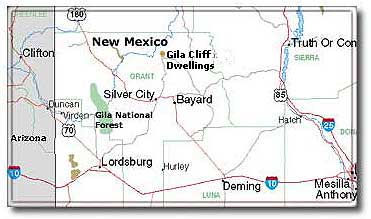 Silver City New Mexico DesertUSA - New mexico map with cities