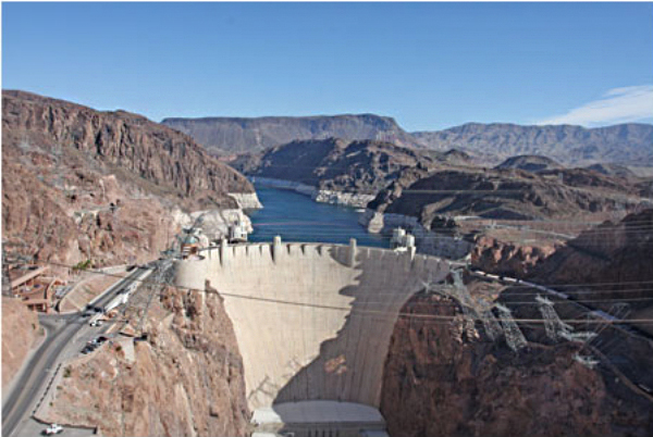 View from the Hoover Dam Bypass Bridge