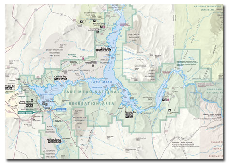 lake mead on map Lake Mead Nra Geography Climate Map Desertusa lake mead on map