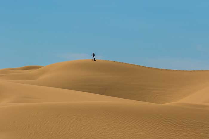 how to find yourseld in the desert