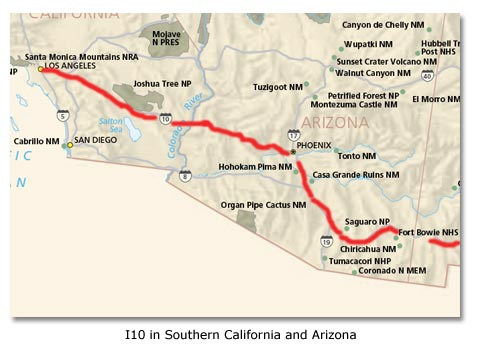 Interstate highway system history DesertUSA