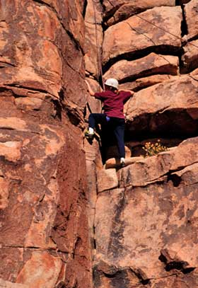 Desert Rock Climbing Sheer Fear DesertUSA