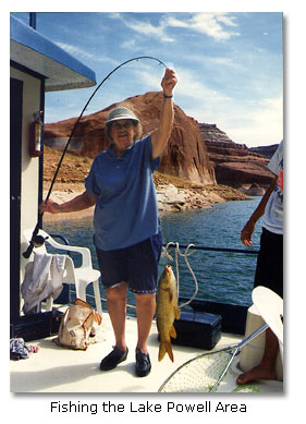 Fishing on the colorado river desertusa for Lake powell fishing license