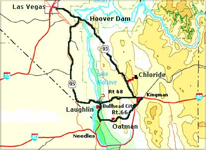 Map Of Old Route 66 Arizona.Road Trip Into The Old West Laughlin Chloride Route 66 And