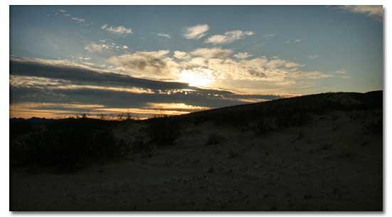 Hiking in the Desert in the dark