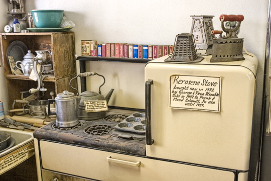 This 1930s Kitchen Exhibit In The 20 Mule Team Museum Contains Several Utensils And Other Household