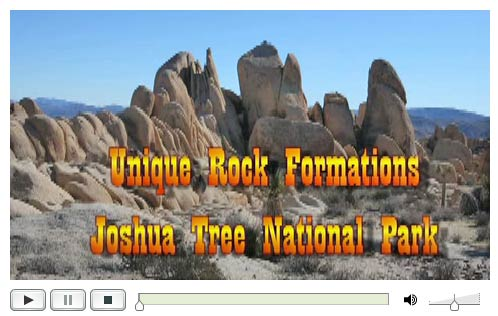 Rock Formations of Joshua Tree NP DesertUSA