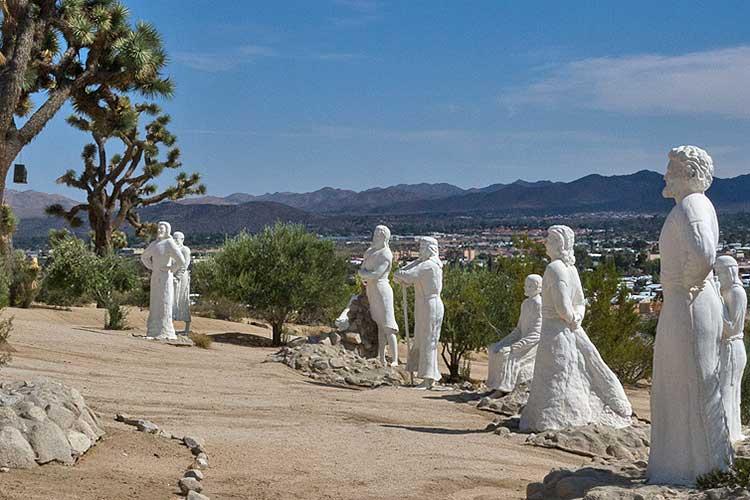 Desert Christ Park Yucca Valley Ca Desertusa