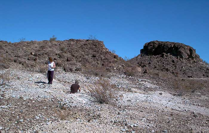 Rock hounding for Thundereggs at Rainey's Well - DesertUSA