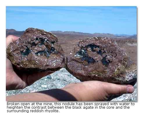 Black Agate Thunderegg Mine California's Colorado Desert - DesertUSA
