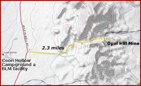 Opal Hill Mine in the Mule Mountains CA - DesertUSA Abandoned Mines California Map on old mine maps, gold mine maps, ohio underground mine maps, coal mine maps,