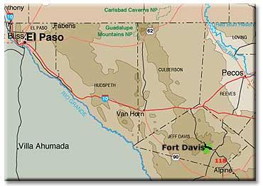 Map Of Texas Mountain Ranges.Davis Mountains Texas Desertusa