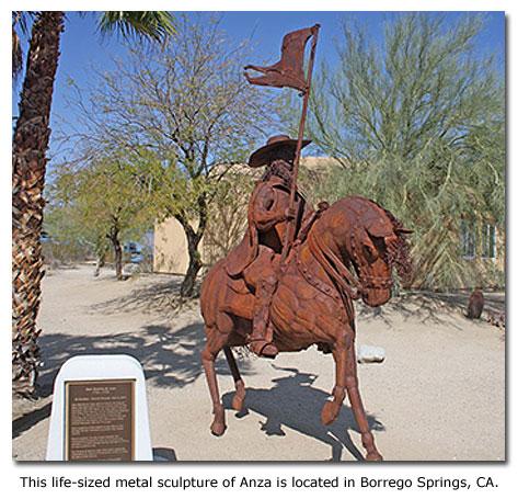The Juan Bautista De Anza Trail - DesertUSA De Anza Map on