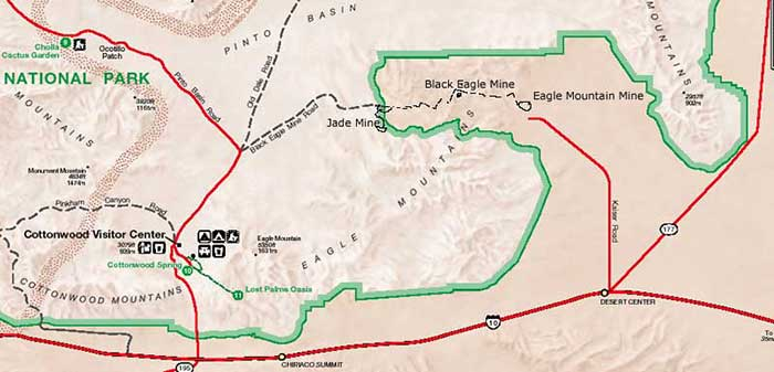 Exploring Black Eagle Mine Road and video DesertUSA