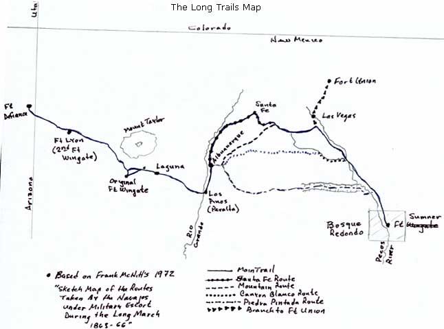 The Long Walk Trail of the Navajos - DesertUSA