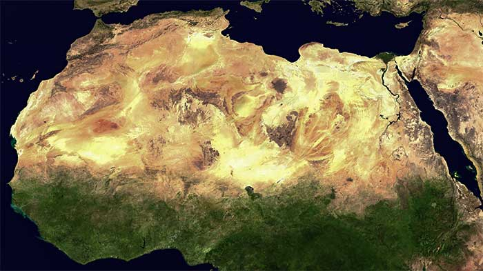the sahara desert location landscape water and climate