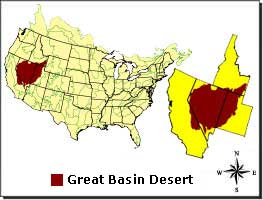 Great Basin Desert DesertUSA - Sonoran desert on us map
