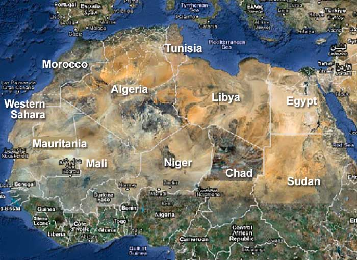 The Sahara Desert: Location, Landscape, Water and Climate - DesertUSA