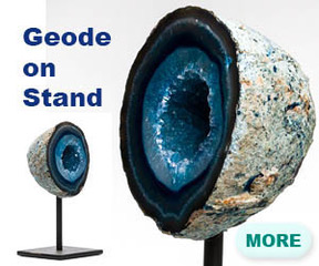 Geode on stand