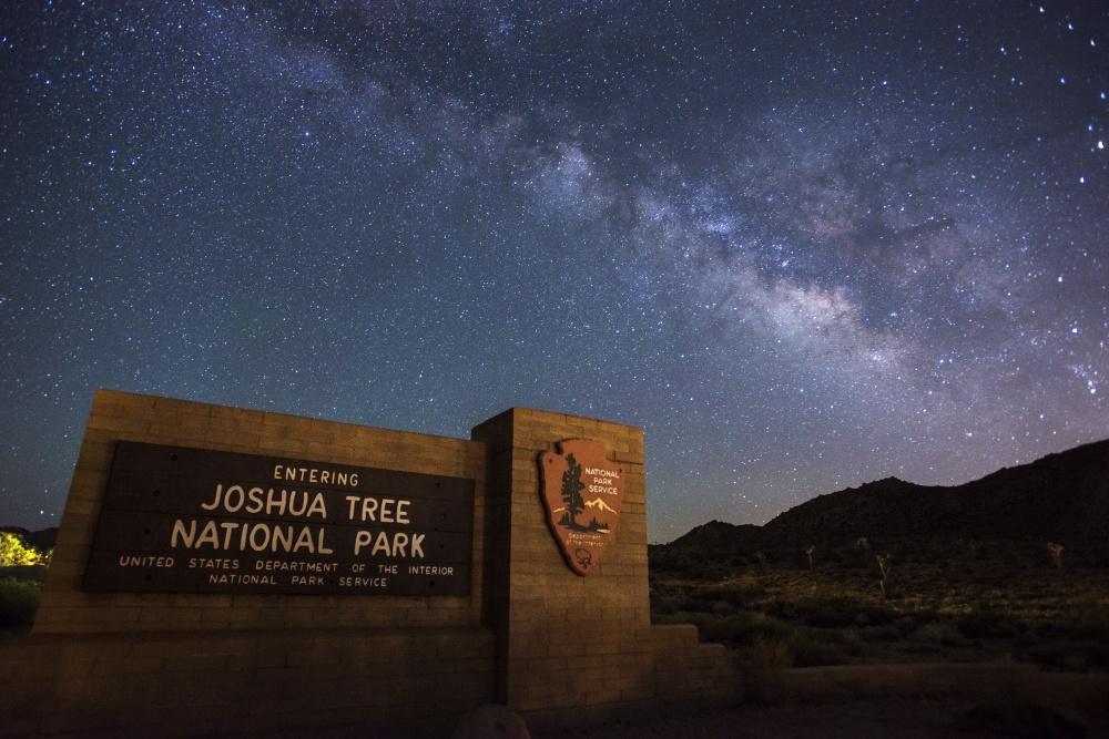 Milky Way over Joshua Tree entrance