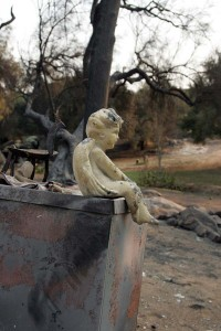 The angel that survived the fire.