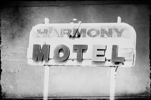 The Harmony Motel in 29 Palms, California. This is one of the places where U2 stayed on their famous tour around the Mojave Desert.