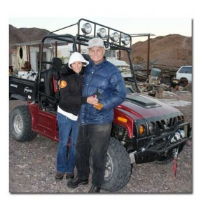 A photo of Nancy and Howard at the mine site.