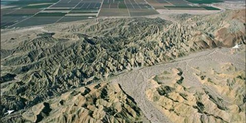 San Andreas fault in SE Coachella Valley