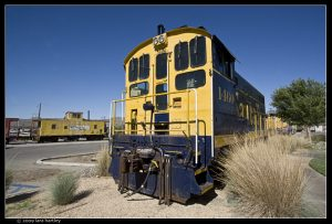 PARKED IN BARSTOW: Santa Fe locomotive 1460 has found a final home in Barstow at the Western America Railroad Museum.