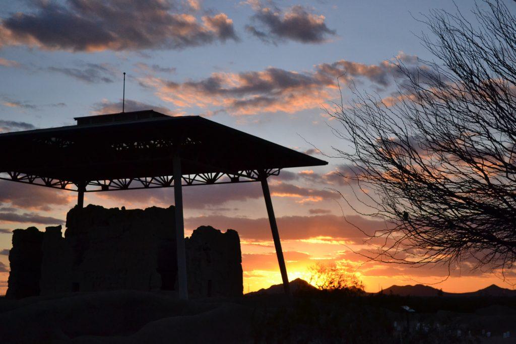 Casa Grande Ruins at Sunset
