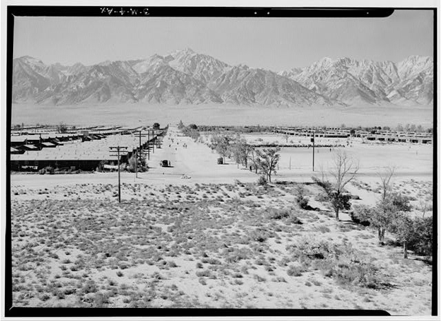 Manzanar Relocation Center from Guard Tower