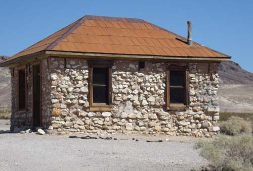 Building in Rhyolite Ghost Town.