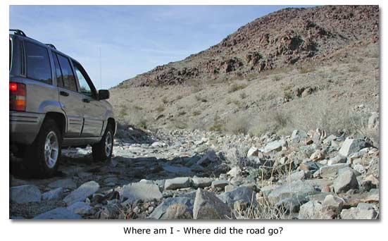 lost car in desert
