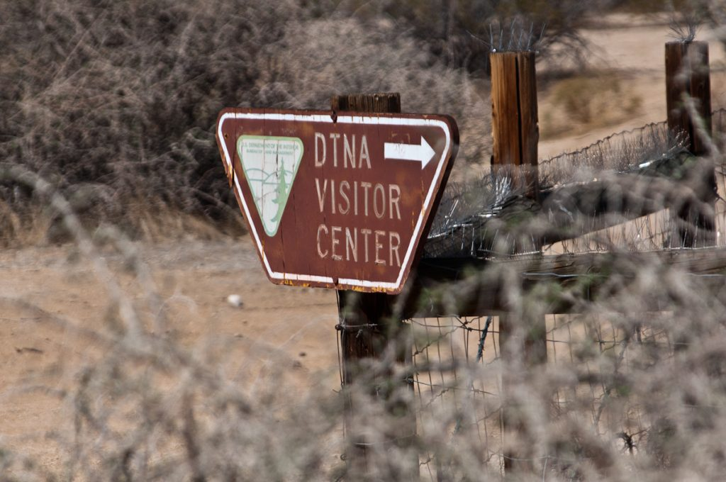 Entrance to the DTNA off of Randsburg-Mojave Road