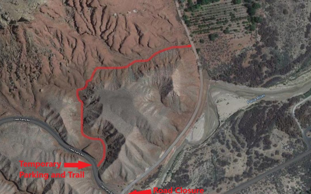 Lonely Dell Waterline Construction Affects Access Through March 27 at Glen Canyon NRA