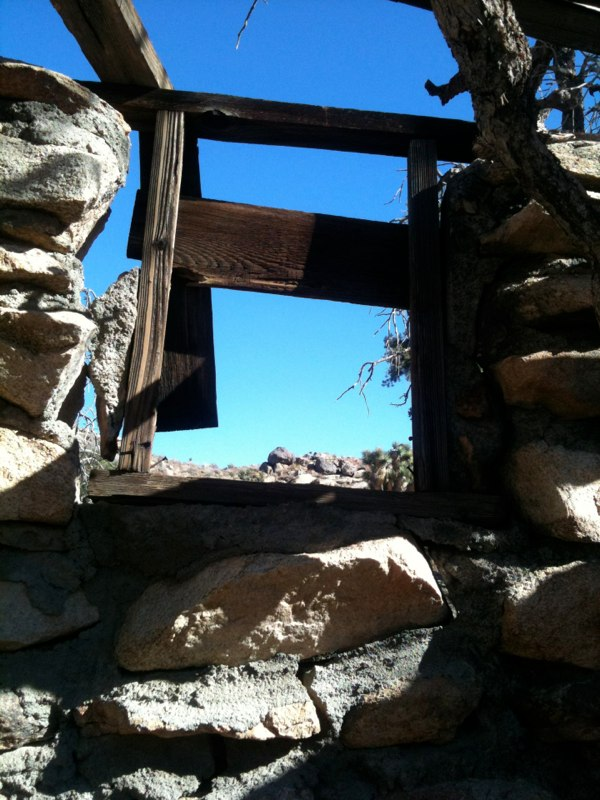 Single Window in Stone Cabin