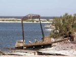 A dilapidated dock at Salton City.