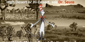 Dr. Seuss Asks, Which High/Hi Desert Do You Know?