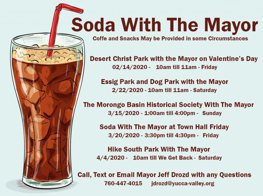 Soda With The Mayor