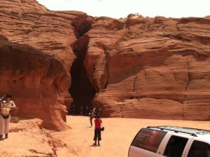 Entrance to Upper Antelope Canyon.