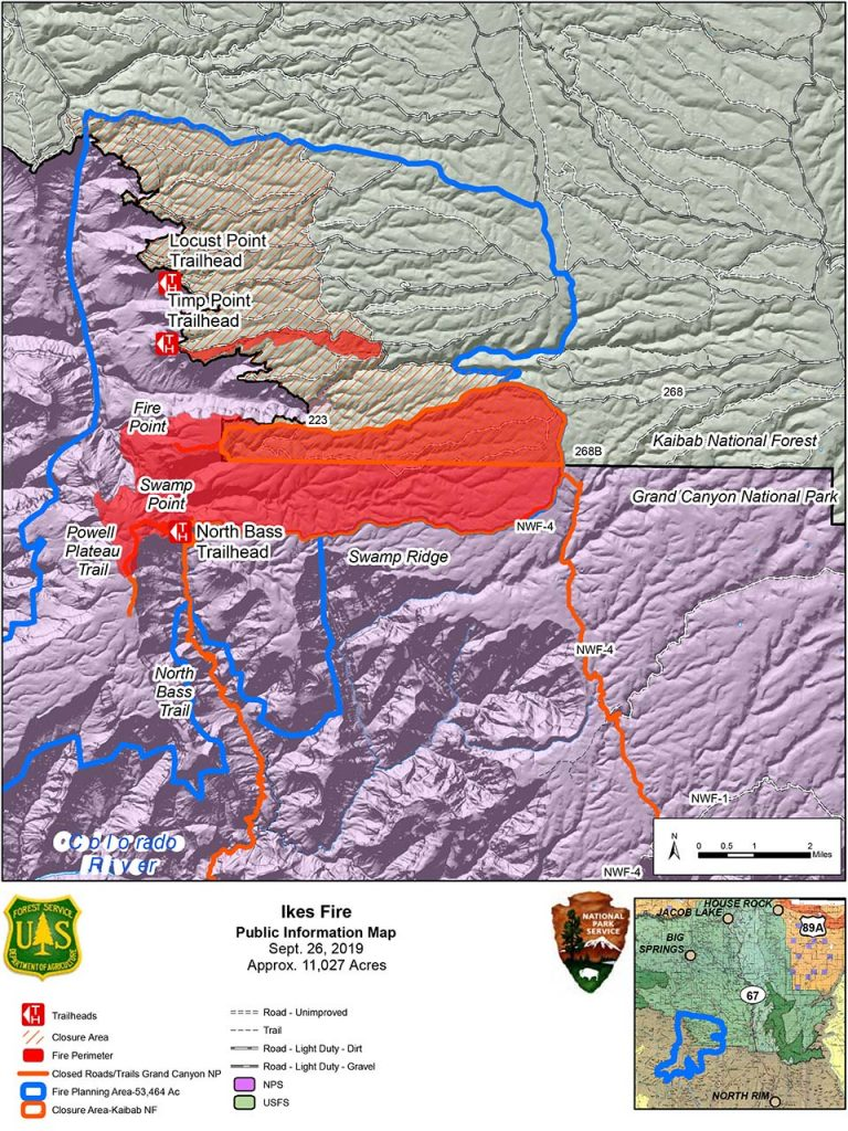 Map of Ikes Fire