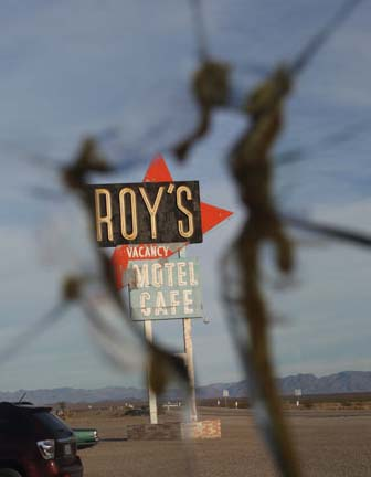 The cracked window in Roy's Cafe is still there.